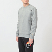 Carhartt WIP Chase Sweatshirt GREY HEATHER / GOLD