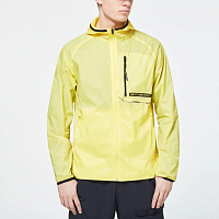 Oakley Stretch Logo Patch Packable Jacket RADIANT YELLOW