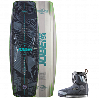 Jobe CONFLICT WAKEBOARD & CHARGE BINDINGS SET ASSORTED
