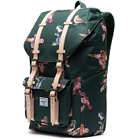 Herschel Little America DARK GREEN BIRDS