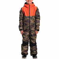 686 Boys Boys Shazam ONE Piece DARK CAMO COLORBLOCK