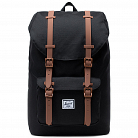 Herschel Little America Mid-Volume Black/Saddle Brown