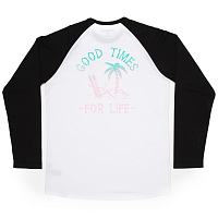 Planks KEEP SHREDDING LONG SLEEVE T-SHIRT White