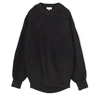 HYKE Ribbed Wool Sweater BLACK