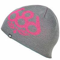 686 GIRLS GLOW REVERSIBLE BEANIE LAGOON BLUE