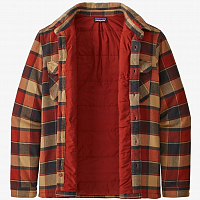 Patagonia M'S INSULATED FJORD FLANNEL JKT BURNISHED RED