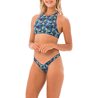 69slam MILA SURF CROP BRA BIRD PARADISE