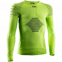 X-Bionic INVENT® 4.0 SHIRT ROUND NECK LG SL JR GREEN LIME/BLACK