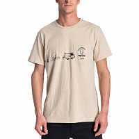 Rip Curl PICTOGRAMS S/S TEE CEMENT MARLE