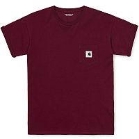 Carhartt WIP W' S/S Carrie Pocket T-shirt BORDEAUX