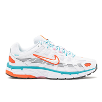Nike W NIKE P-6000 WHITE/WHITE-ORACLE AQUA-MAGIC FLAMINGO