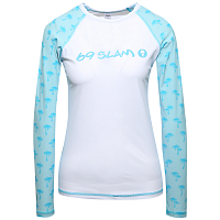 69slam L/S AVA RASH VEST PALM BLUE