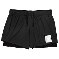 SATISFY SHORT DISTANCE 3 SHORTS BLACK SILK