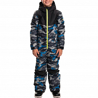 686 Boys Boys Shazam ONE Piece STRATA BLUE CAMO COLORBLOCK