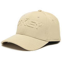 Oakley 6 PANEL STRETCH HAT EMBOSSED SAFARI