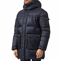 Paul & Shark QUILTED HOODED DOWN COAT BLUE