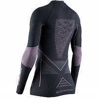 X-Bionic ENERGY ACCUMULATOR 4.0 SHIRT ROUND NECK LG SL WMN CHARCOAL/MAGNOLIA