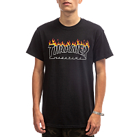 Thrasher SCORCHED OUTLINE-S/S BLACK
