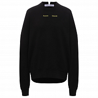 Proenza Schouler White Label Solid Sweatshirt BLACK