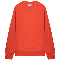 Carhartt WIP Chase Sweatshirt SAFETY ORANGE / GOLD
