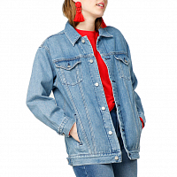 Carhartt WIP W' TRUCKER JACKET BLUE (LIGHT STONE WASHED)
