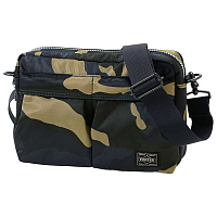 PORTER YOSHIDA COUNTER SHADE SHOULDER BAG WOODLAND KHAKI