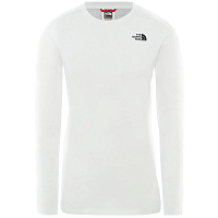 The North Face W L/S SIMPLEDOME TEE TNF WHITE (FN4)