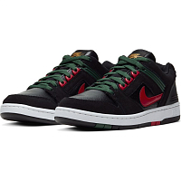 Nike SB AIR FORCE II LOW BLACK/GYM RED-DEEP FOREST