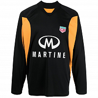 MARTINE ROSE Revels Shirt BLACK/ORANGE