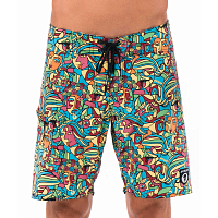 69slam LIAM BOARDSHORT 4WAYS CUBISM MOCK