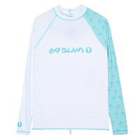 69slam DIEGO L/S RASH VEST PALM BLUE