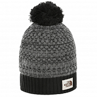 The North Face ANTLERS BEANIE TNF BLACK HTHR (KS7)