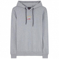 PAUL AND SHARK LOGO HOODIE GREY