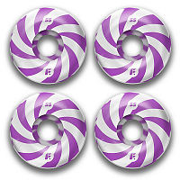 Footwork ROUND SHAPE SWIRL PURPLE
